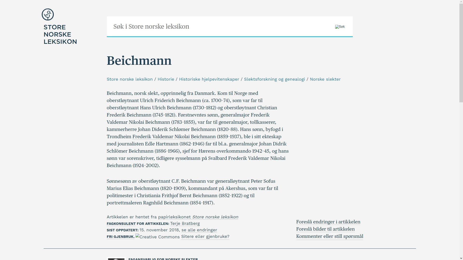 7b34915e johncons: Mora til Diderik Beichmann var visst fra Stokke