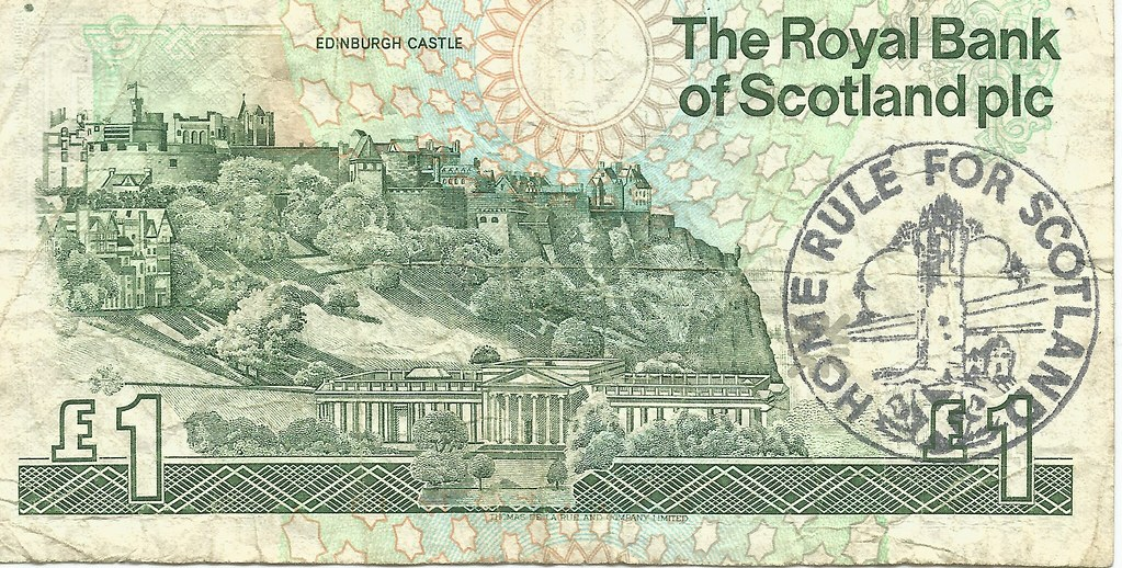 Home Rule for Scotland Pound Note, 1991