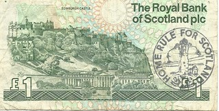 Home Rule for Scotland Pound Note, 1991   by Scottish Political Archive