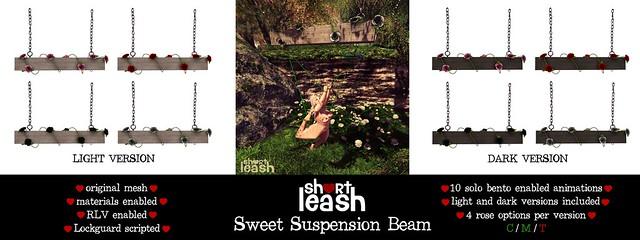 .:Short Leash:. Sweet Suspension Beam