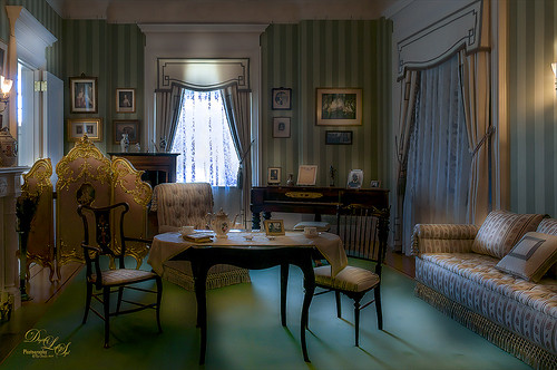 Image of room taken at the Flagler Museum in Palm Beach, Florida