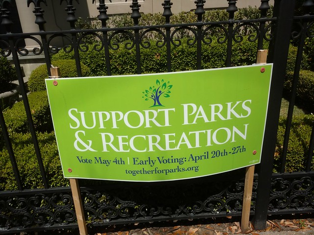 Parks and Rec sign