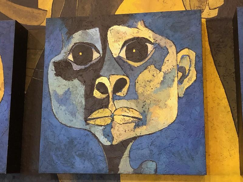 Detalle del mural de Guayasamín