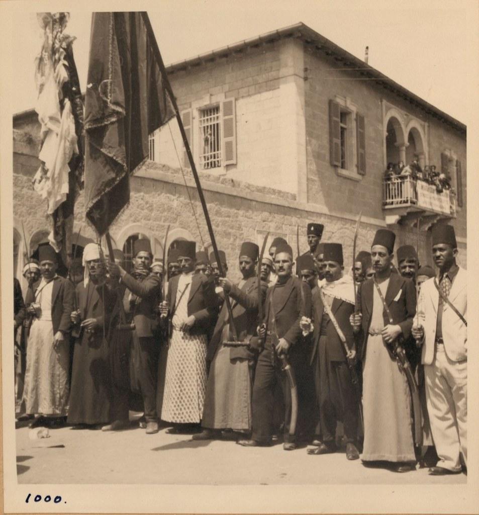 1000. 2 апреля. Фестиваль Неби Муса у Дамасских ворот.Флаг Шхема и его телохранитель
