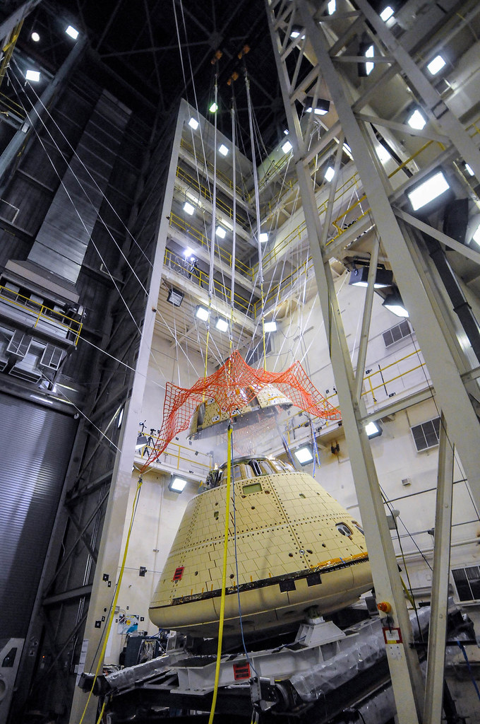 Orion Structural Test Article Forward Bay Cover Jettison Test.