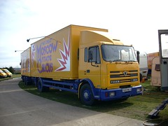 quicksilver coaches posted a photo:	P893 MLH1997 Foden 2215Moscow State CircusCampbell Park, Milton Keynes, 14 March 2008The newer of the two 2000-series Foden bunk wagons on the show in 2008, this would last another four years before retirement. Being one of the country's largest shows with many artistes and other staff to accommodate, the Moscow State have a large fleet of bunk wagons in both drawbar and artic form.