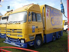 quicksilver coaches posted a photo:	M417 TSA1995 Foden 4500Moscow State CircusCampbell Park, Milton Keynes, 14 March 2008New to A. & T. McCombie, Skene, AberdeenshirePerhaps the most powerful Foden in the MSC fleet with its 500bhp Cummins engine, this features on the front cover of 'Circus Transport Photographs Volume 3'. It is now recorded as on SORN and painted blue so it may have moved with other ex MSC lorries to Gerry Cottle's Wow Circus.
