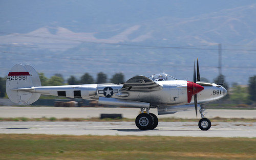 P-38L Landing Roll Out