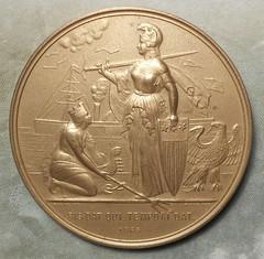 Cornelius Vanderbilt Mint Medal reverse