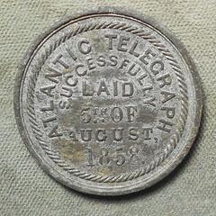 1858 Atlantic Telegraph Medal reverse