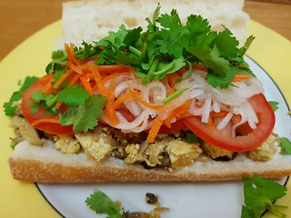 Scrambled Tofu Breakfast Banh Mi