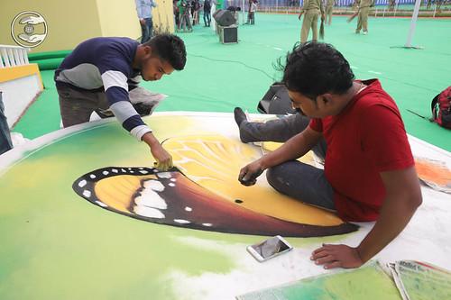 Rangoli by Sewa Dal volunteers
