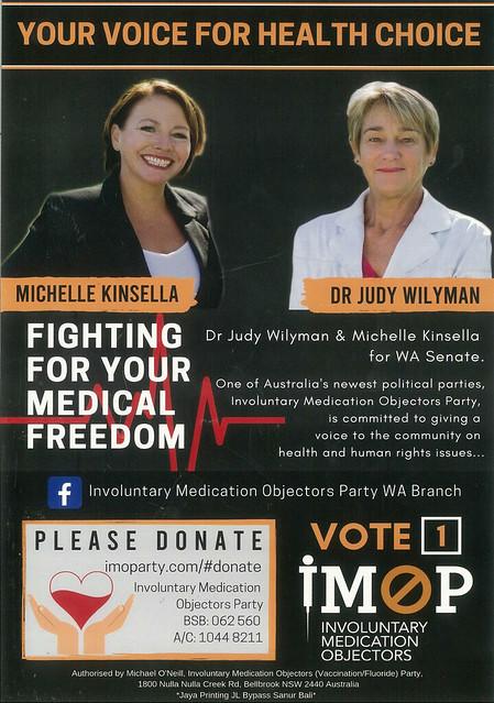 Involuntary Medical Objectors Flyer, 2019 Election