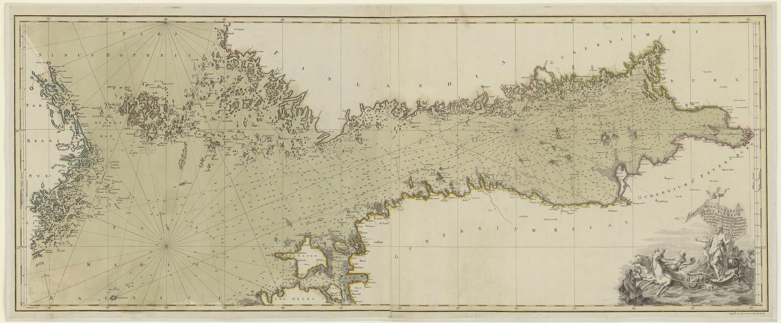 1777. Карта Финского залива Якоба Шмидта