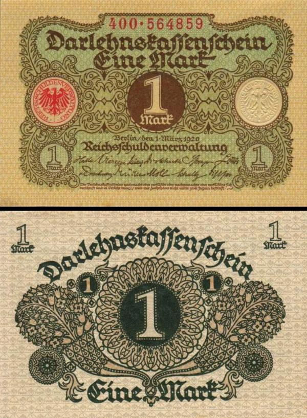 1 Marka Nemecko 1920, P58