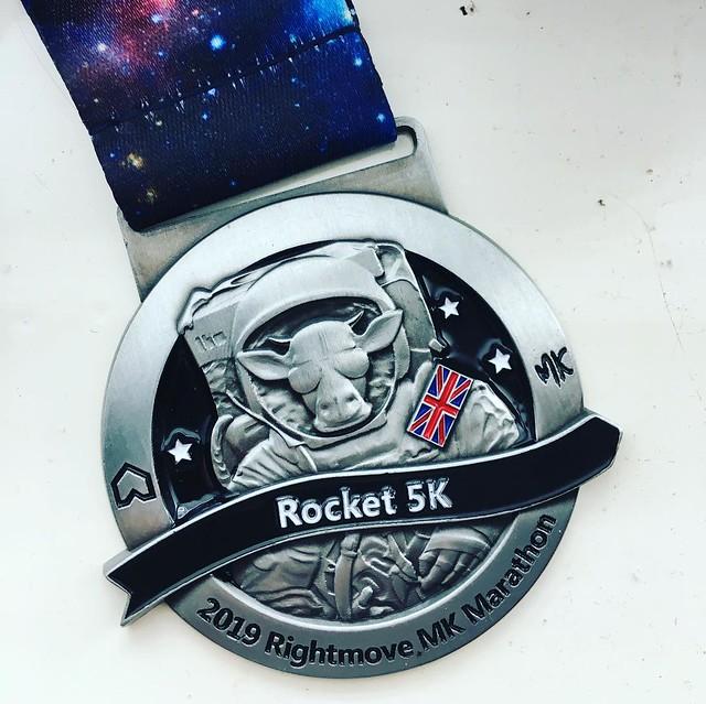 At the Rocket 5K finish