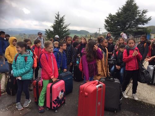 Voyage scolaire des CE2 A & B au Bessat