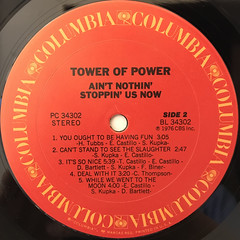 TOWER OF POWER:AIN'T NOTHIN' STOPPIN' US NOW(LABEL SIDE-B)
