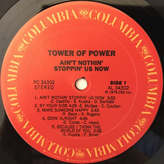 TOWER OF POWER:AIN'T NOTHIN' STOPPIN' US NOW(LABEL SIDE-A)