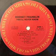RODNEY FRANKLIN:YOU'LL NEVER KNOW(LABEL SIDE-A)