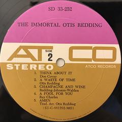 OTIS REDDING:THE IMMORTAL OTIS REDDING(LABEL SIDE-B)