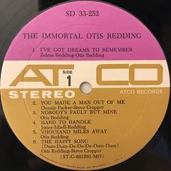OTIS REDDING:THE IMMORTAL OTIS REDDING(LABEL SIDE-A)