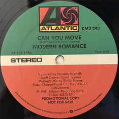 MODERN ROMANCE:CAN YOU MOVE(LABEL SIDE-B)