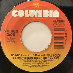LISA-LISA AND CULT JAM WITH FULL FORCE:I WONDER IF I TAKE YOU HOME(LABEL SIDE-B)