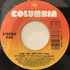 LISA LISA AND CULT JAM:LET THE BEAT HIT 'EM(LABEL SIDE-B)
