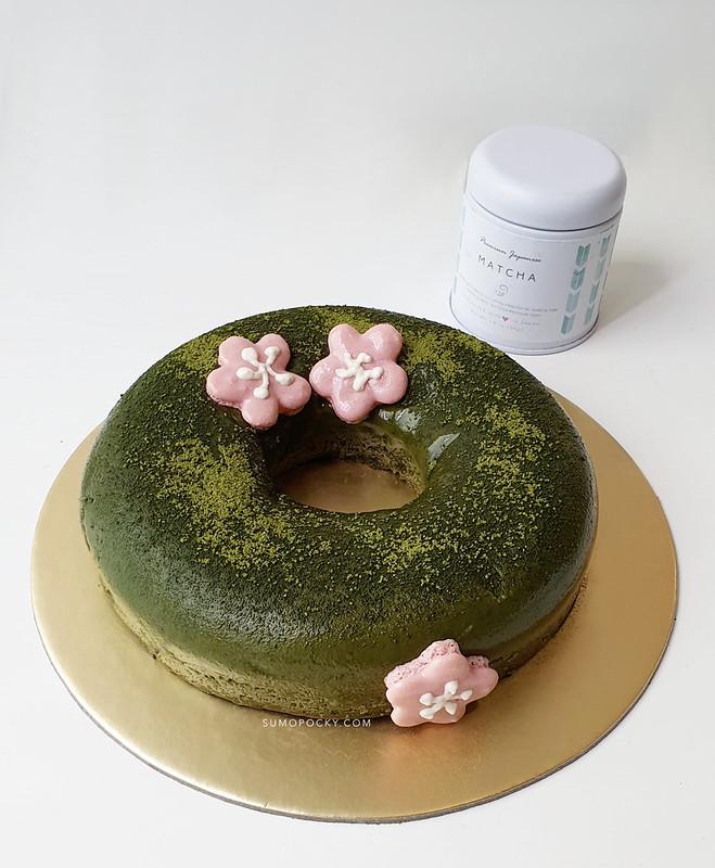 Flourless Matcha Cake Recipe sugar free