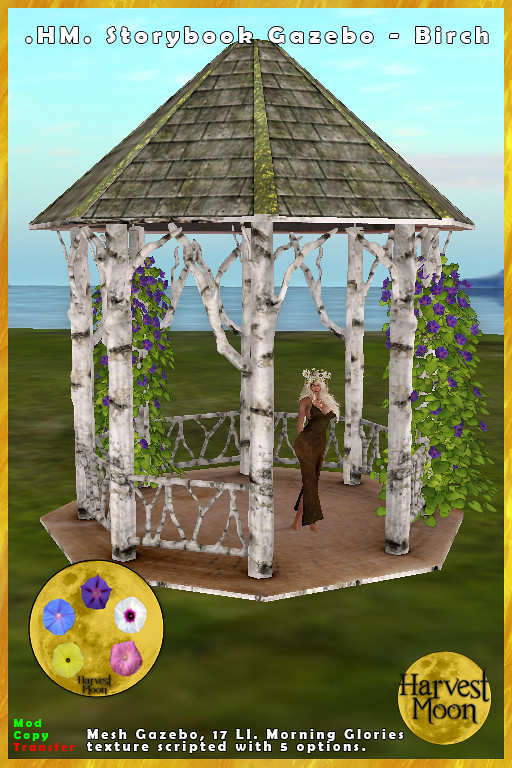Harvest Moon – Storybook Gazebo – Birch