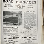 Sat, 2015-05-16 16:24 - I like a name that does what it says on the tin! The Birmingham based company of the Steel-Mesh Road Surface Co Ltd made just that - steel reinforcing mesh for road surfaces as seen here. It was being sold as a particular solution for areas of road surfaces that saw heavy and constant loads such as bus stops and the illustration is of such an application in Derby Road, Old Swan, Liverpool. Mention is also made of a bus stop in Hammersmith Broadway in London where work had been carried out in 1926 and was still 'doing the job' in 1929. With the growth of the motor bus in the late 1920s and '30s, partially replacing tramcars, the issue of early road surfaces and surface durability was common.