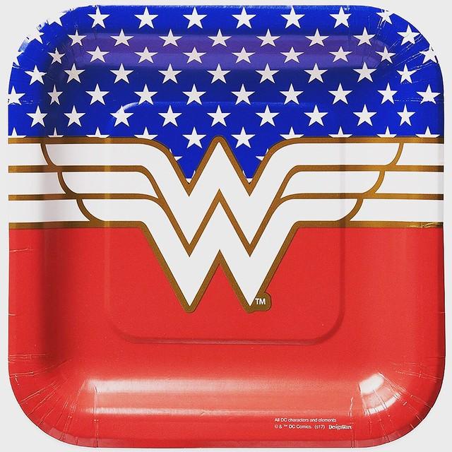 Brand new Wonder Woman tableware design.