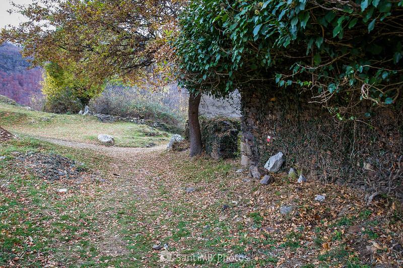Llegando a la parte de atrás de Sant Ròc de Bausen