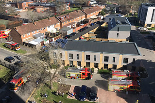 Fire Vehicles, Quinton Close, Portsmouth, March 24th 2019