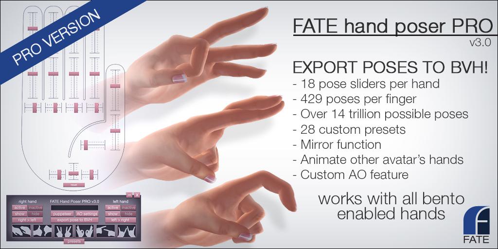 FATE hand poser HUD v3 PRO   See marketplace for details: ma…   Flickr