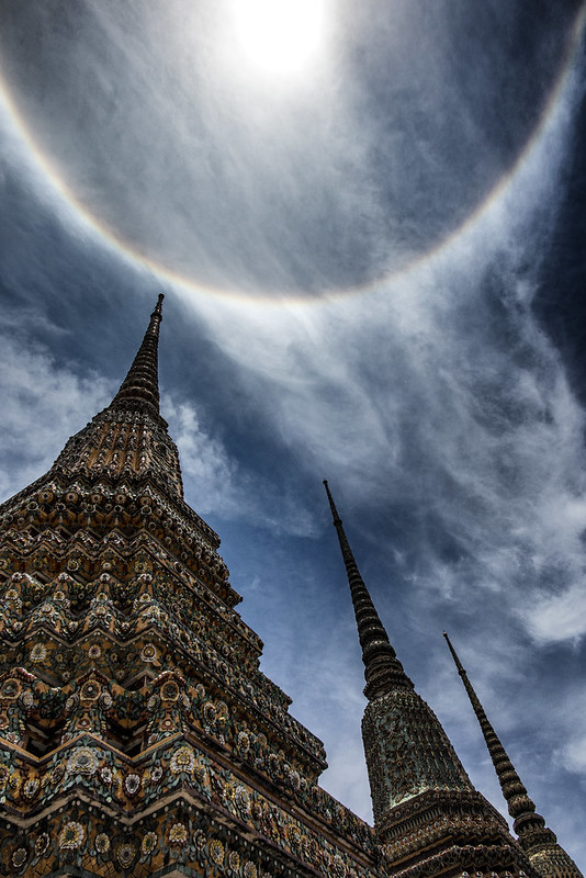 A Sun Halo Above Majestic Wat Pho