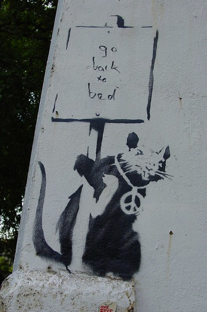 Banksy Rat - Go Back To Bed, photo 2006