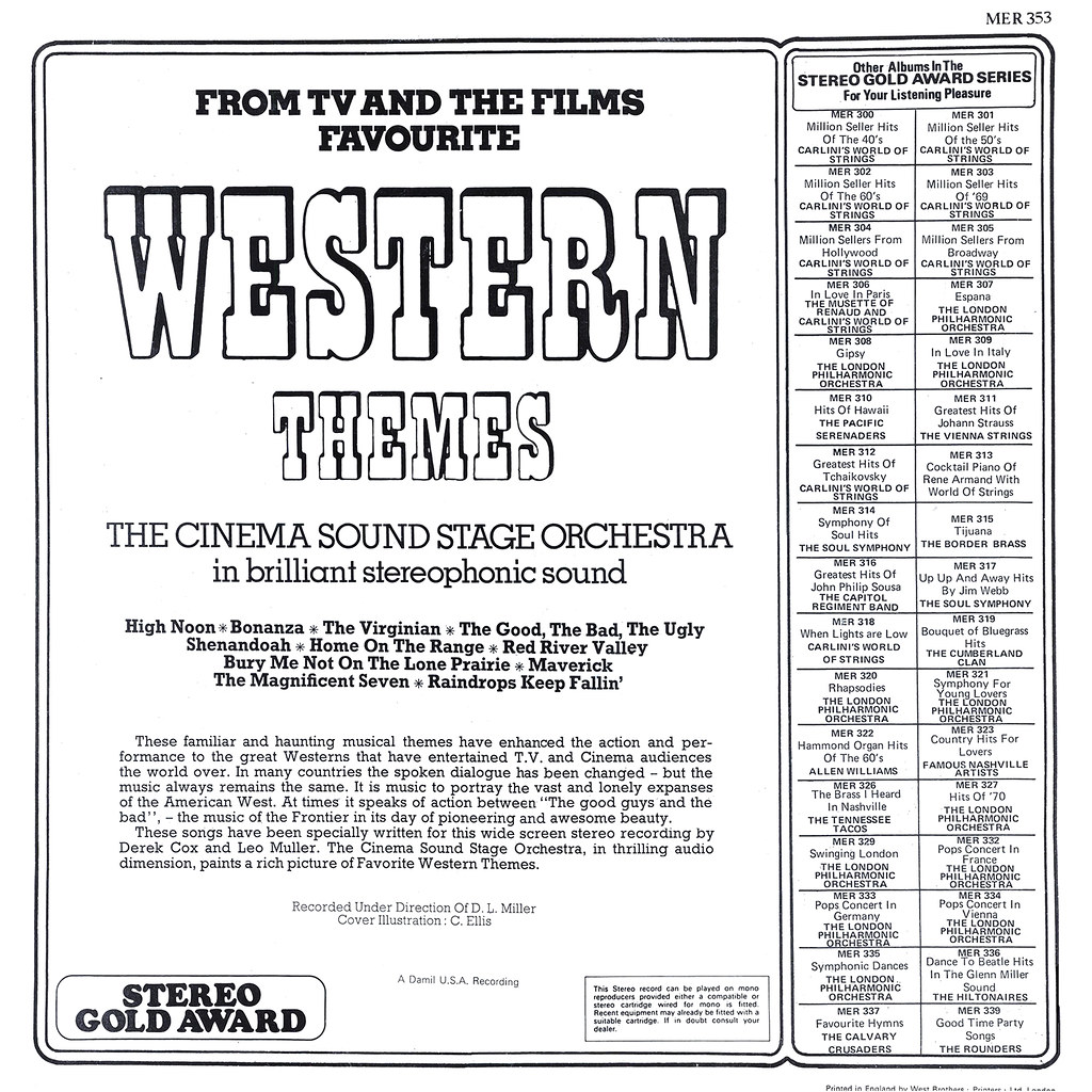 Cinema Sound Stage Orchestra - Favorite Western Themes b