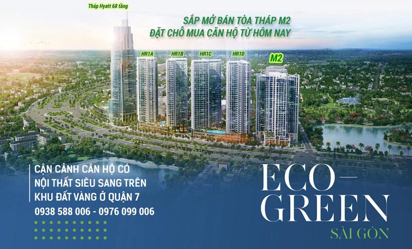 Dự án Eco Green Sài Gòn sắp mở bán tòa tháp M2 với 100% các căn hộ là 02 phòng ngủ.