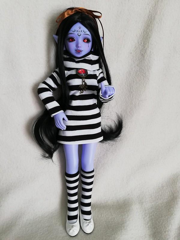 [Ventes] Bjd Chibi Unoa halloween vers. Violet skin Fullset  46997365374_5a7b2aa1d9_c