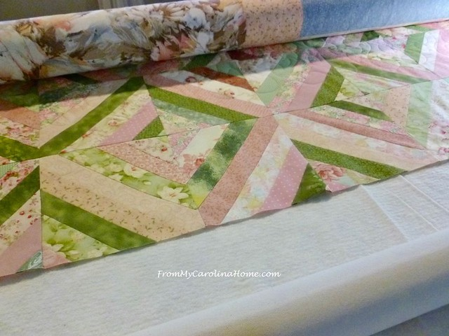 Pink String Quilt at FromMyCarolinaHome.com