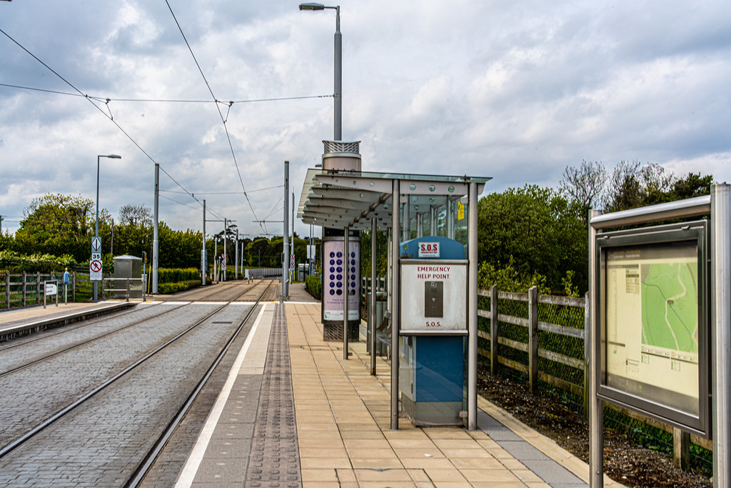 LUAS TRAM STOP AT LAUGHANSTOWN 002