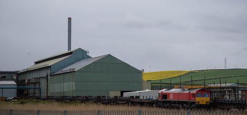 DBS Class 66 66021 at  British Steel Skinningrove