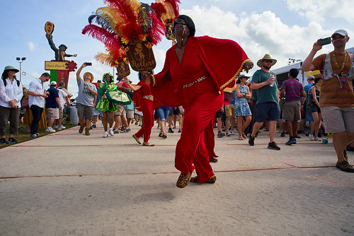 Lady Rollers  on Jazz Fest Day 6 - May 3, 2019. Photo by Eli Mergel.