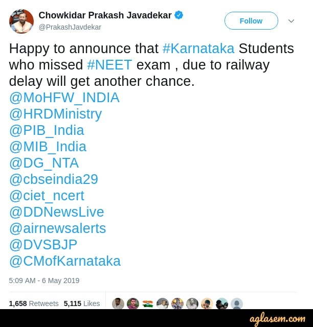 NTA Announces Reschedule Date for NEET 2019 for Odisha Candidates; Admit Card to be Re-issued Soon