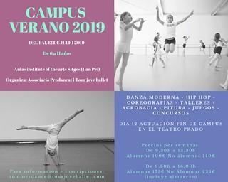 Campus Estiu Ballet 2019 - actividades en inglés