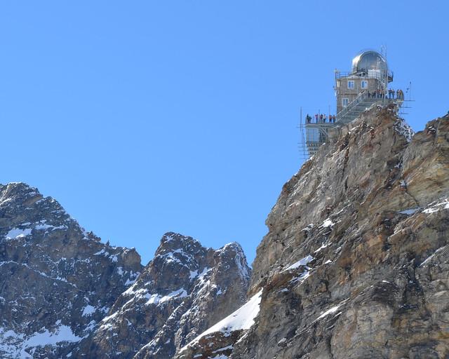 Observatorio Sphinx en los alpes suizos