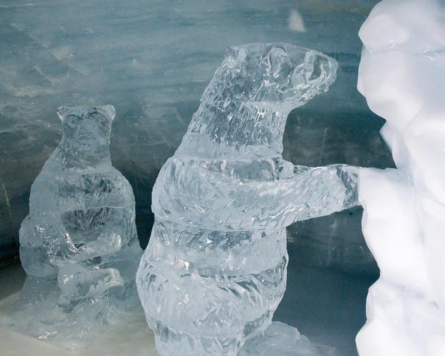 Museo del hielo en el jungfraubahn