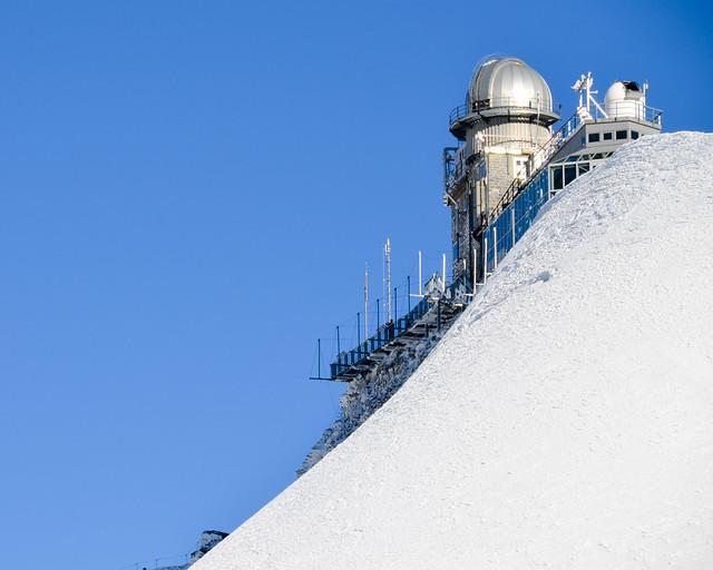 Cúpula del observatorio Sphinx sobre la estación del Jungfraujoch